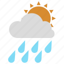 cloudy, partly, partlycloudy, rainy, weather icon icon