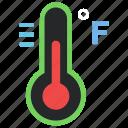 cold, illness, scale, temperature, termometer, winter icon icon