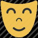 face, mask, smile, theater icon icon