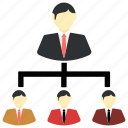 boss, business, communication, employees, office icon icon