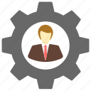 business, content, management, process, work icon icon