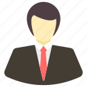 avatar, business, costume, male, man, office, user icon icon