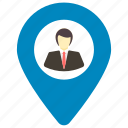 find person, geolocalization, location pin, map locator, user location icon icon