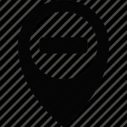 location, map, pin, remove icon