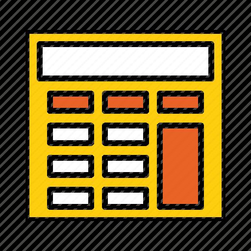 accounting, budget, calculate, calculation, calculator, math icon