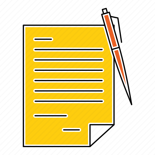agreement, contract, deal, document, note, paper icon