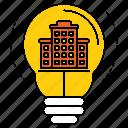 creativity, energy, estate, idea, imagination, innovation, lamp icon