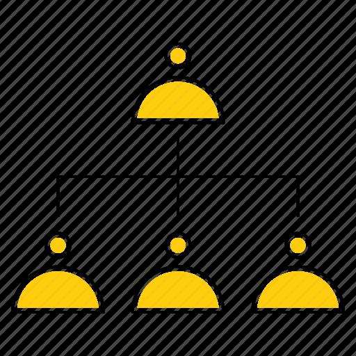 business, management, organisation, organization, structure, team icon