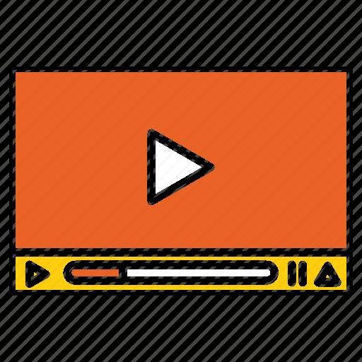 business, marketing, media, seo, social, video icon
