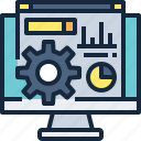 business, computer, data, database, management, report, seo icon
