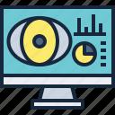 business, computer, data, monitoring, report, seo icon