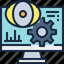 business, computer, marketing, monitoring, report, seo icon