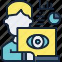 avatar, business, marketing, monitoring, programming, seo icon
