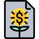 bank, business, document, finance, investment, report icon