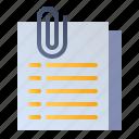 attach, attachment, file, paperclip