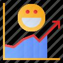 customer, rates, response, satisfaction icon