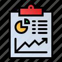analytics, business report, finance, statistics icon