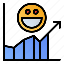 customer, rates, response, satisfaction icon