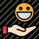 customer satisfaction, feedback, review, testimonial icon
