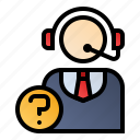 customer support, customer-service, front desk, help desk icon