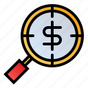 business, detection, find, money, opportunity icon