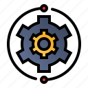 business, cogwheel, management, process icon