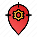 direction finding, optimization, settings, tracking system icon