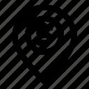 locate, located, location, position, store gps icon