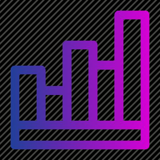 business, graph, grow, histogram, management, minimalist, workflow icon