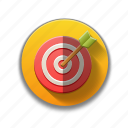 bullseye, colorful, leads, precise, seo, sports, target icon