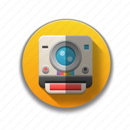 camera, colorful, flat icon, media, photo, pictures, polaroid icon