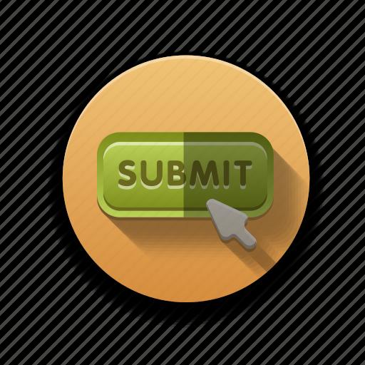 colorful, flat icon, ok, submit icon