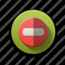 delete, minus, negative, power off, remove, volume down icon