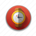 colorful, flat icon, time, timer, watch, wrist watch icon