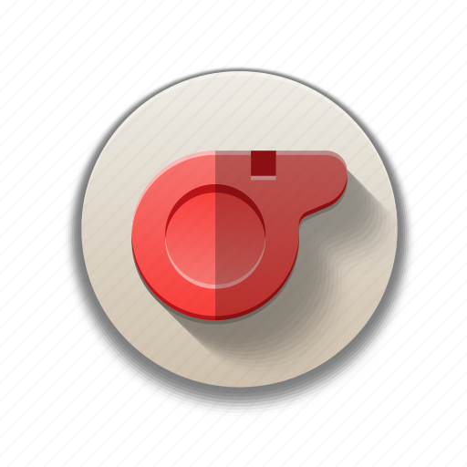 colorful, flat icon, game, rules, sports, whistle icon