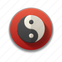 chinese symbol, colorful, flat icon, force, spiritual, yin yang icon