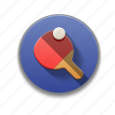 colorful, flat icon, ping pong, ping pong rocket, sports, table tennis