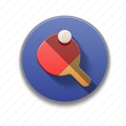 colorful, flat icon, ping pong, ping pong rocket, sports, table tennis icon