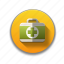 colorful, first aid kit, flat icon, kit, medical, medical aid, medicine icon