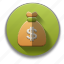 bag of money, cash, commerce, funds, jackpot, money, savings icon