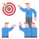 business, goal, incentive, meeting, motivation icon