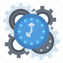 administrator, business, clock, meeting, time icon