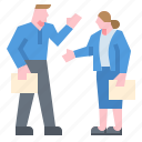 business, businessman, businesswomen, contract, document, meeting, partner icon