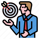 business, goal, meeting, mission, target icon