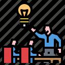 business, idea, intelligence, meeting, team icon