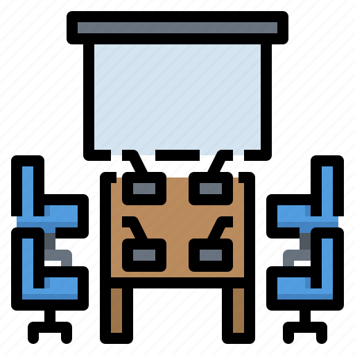 Business, chairs, meeting, presentation, room icon - Download on Iconfinder