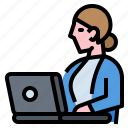 avatar, business, meeting, profession, secretary