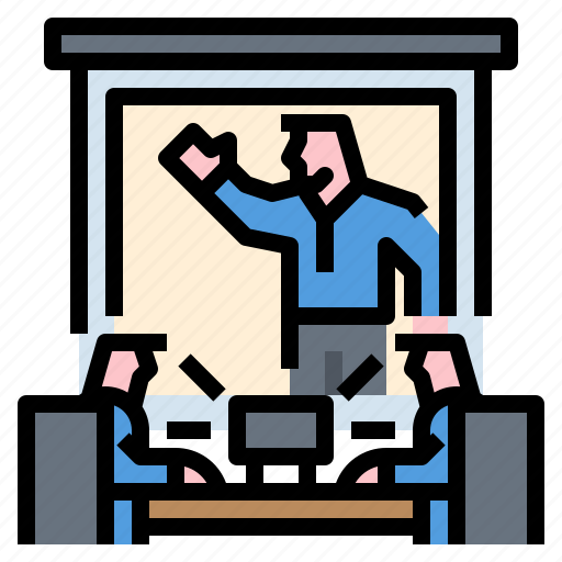 Business, computer, conference, meeting, video icon - Download on Iconfinder