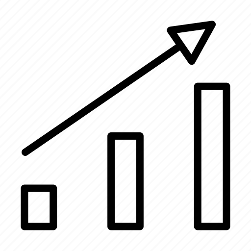 business, chart, graph, growth, share, up icon