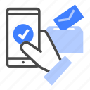 e-voting, vote, voter, technology, remote, mobile, election icon